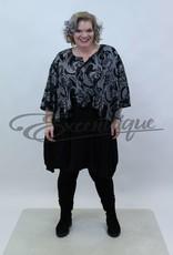 New Jersey - Pullover - Zwart Grijs Gevlamd :