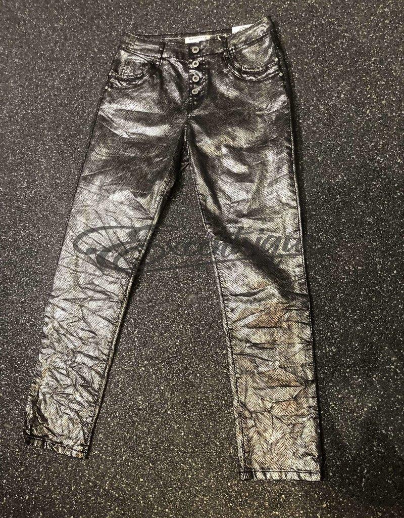 Karostar Karostar Jeans - Zilver Zwart Slangenprint :