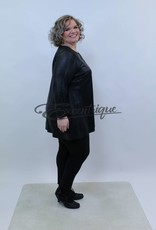 Magna - Tuniek - Zwart Leatherlook :