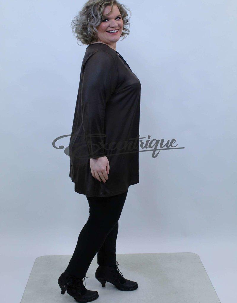 Magna - Tuniek - Bruin Zwart Leatherlook :