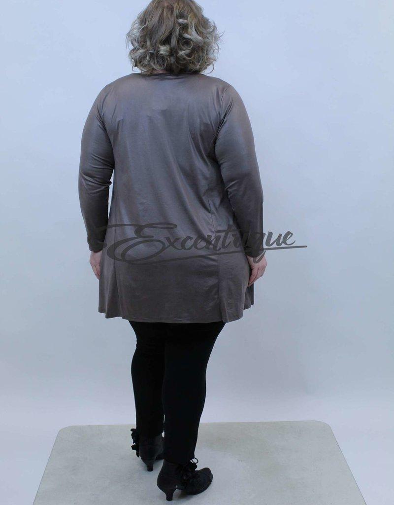 Magna - Tuniek - Beige Leatherlook :