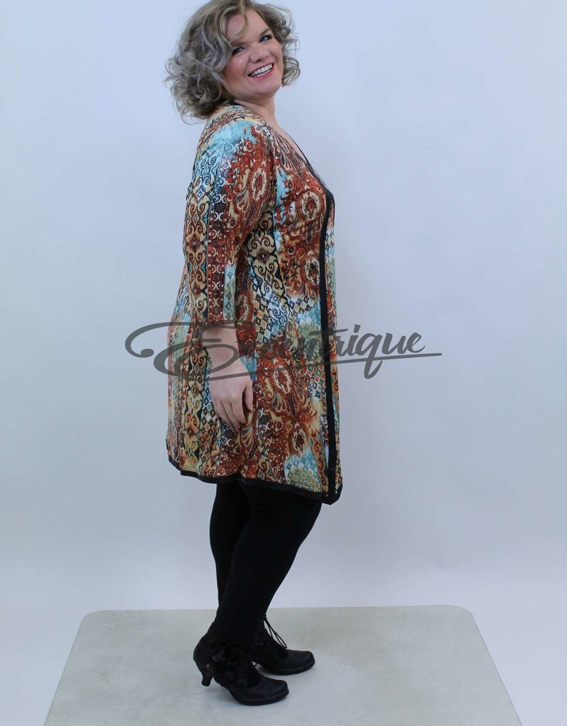 Magna - Tuniek - Bruin Blauw Bont Patroon :