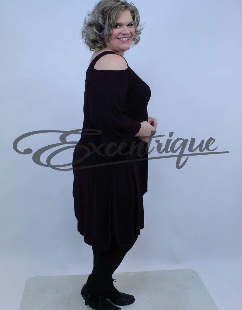Magna - Tuniek met 3/4 mouwtje - Aubergine :