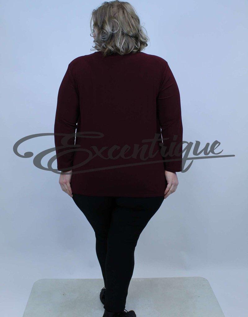 Magna - Shirt Lange Mouw B03 - BordoRood :
