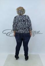"""NewJersey - Shirt """"Daisy"""" - Zwart Zebra :"""