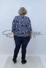 "NewJersey - Shirt ""Daisy"" - Blauw Zebra :"