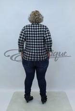 """NewJersey - Shirt """"Jill"""" (Vest&Top in 1) - Zwart Wit PiedDePoule :"""
