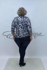 "NewJersey - Shirt ""Jill"" (Vest&Top in 1) - Zwart Witte Rozen :"