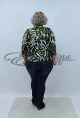 "NewJersey - Shirt ""Jill"" (Vest&Top in 1) - Groene Tijgerprint :"