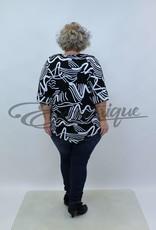 """NewJersey - Shirt """"Lucie"""" - Zwart Wit Print :"""