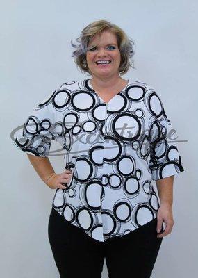 """NewJersey - Shirt """"Lucie"""" - Wit Zwarte Cirkel :"""
