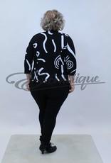 "NewJersey - TwinSet ""Bella"" (Vest&Top) - Zwart Wit Kringel Patroon :"