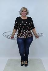 """NewJersey - Shirt """"Donna"""" - Zwart Gebakjes :"""