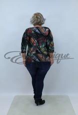 """NewJersey - Shirt """"Donna"""" - Zwart Bont Blad :"""