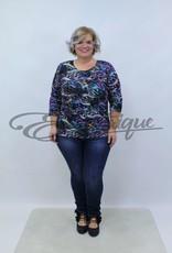 """NewJersey - Shirt """"Donna"""" - Zwart Blauw Paarse Pracht :"""