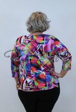 """NewJersey - Shirt """"Donna"""" - Roze Abstract Schilderij :"""