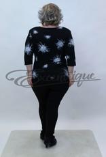 """NewJersey - Shirt """"Donna"""" - Zwart Witte Kriebels :"""