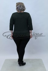 """NewJersey - Shirt """"Donna"""" - Groen Zwarte Balkjes :"""
