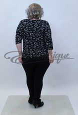 """NewJersey - Shirt """"Donna"""" - Zwart Witte Cirkels :"""