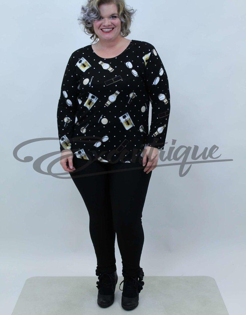 """NewJersey - Shirt """"Donna"""" - Zwart Parfum :"""