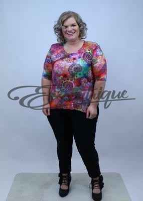 """NewJersey - Shirt """"Bette"""" - Rose Kleurenmandala :"""