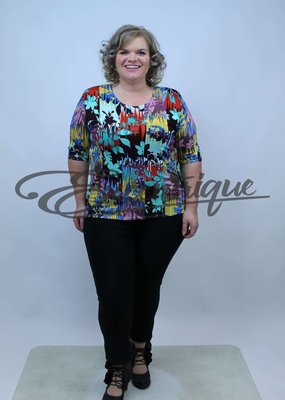 "NewJersey - Shirt ""Donna"" - Kleurverloop Bloemen :"