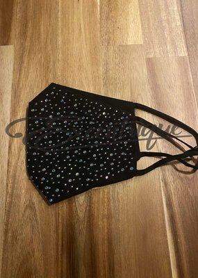 Mondkapje Fashionable - Zwart, Full Strass  :