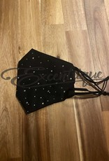 Mondkapje Fashionable - Zwart, Light Strass  :