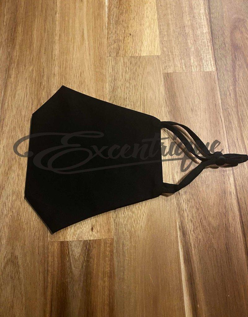 Mondkapje Fashionable - Zwart, Strass Ster :