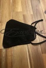 Mondkapje Fashionable - Zwart, Zwart Glitter :