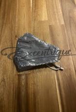 Mondkapje Fashionable - Zilver Pailletten :