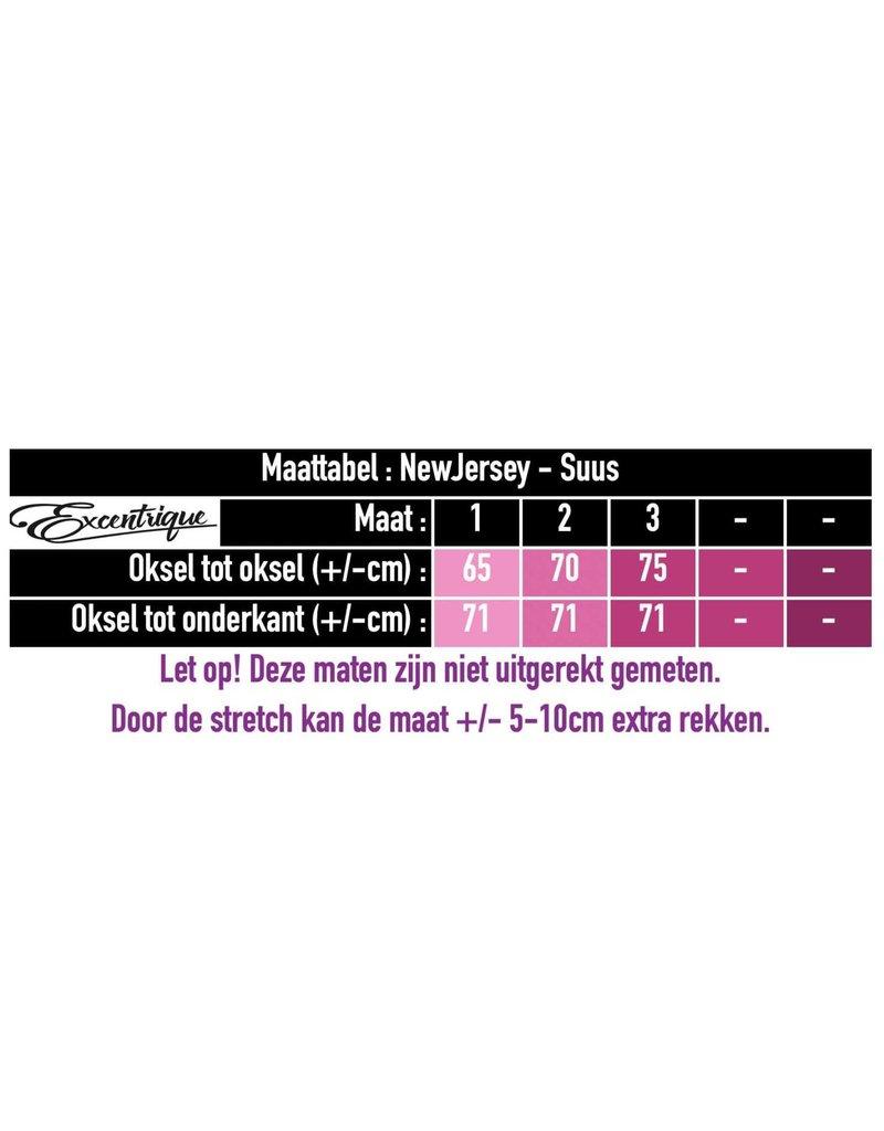 "NewJersey - Tuniek ""Suus"" - Oker Zwart Tekst :"