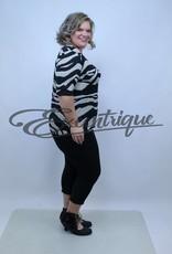 "NewJersey - Shirt ""Donna"" - Beige Zwart Wit Streep :"