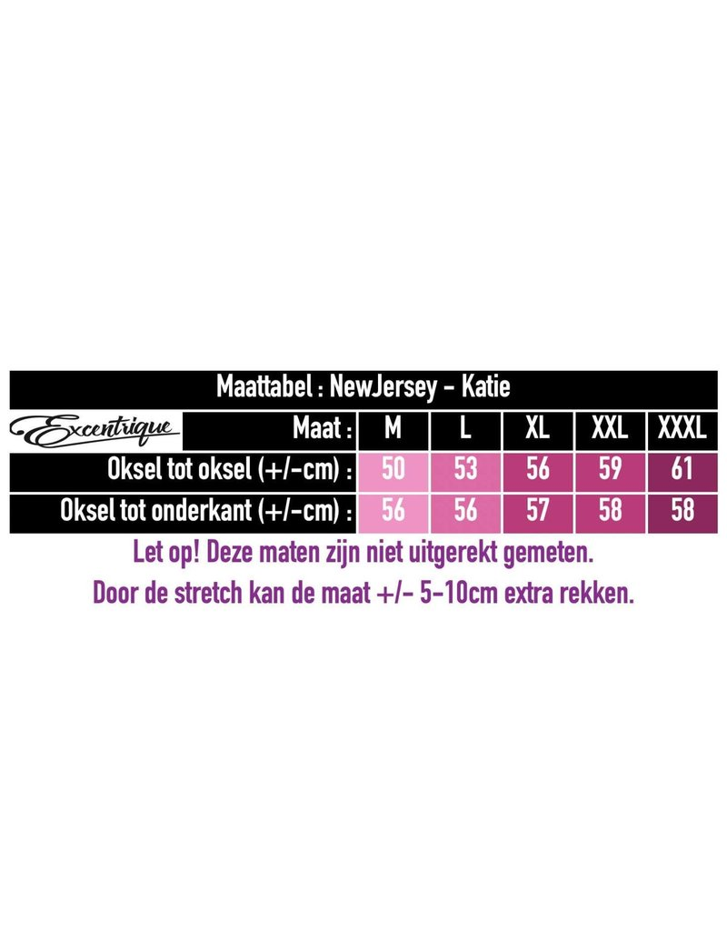 """NewJersey - Tuniek """"Katie"""" - Beige Zwart Wit Poes :"""