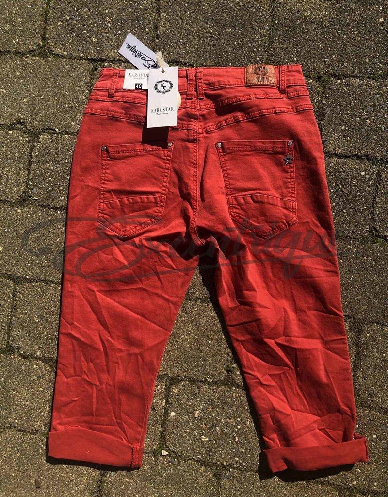 "Karostar Karostar - Jeans 3/4 ""K870"" - Rood :"