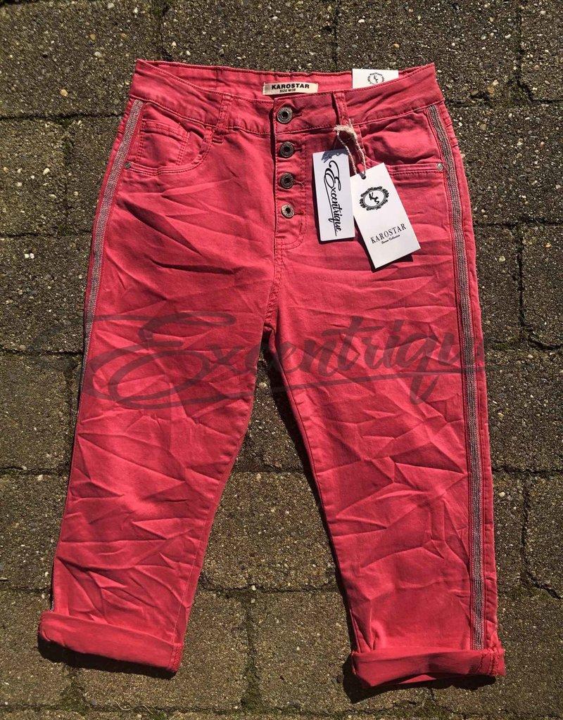 """Karostar Karostar - Jeans 3/4 """"K870"""" - Rose :"""