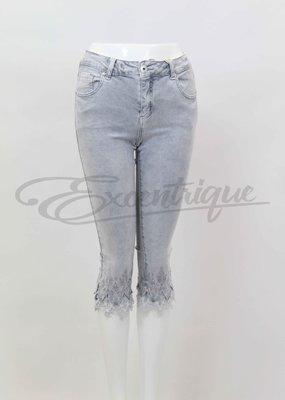 "Mozzaar Forever - Jeans 3/4 ""PC11048"" - Grijs Denim :"