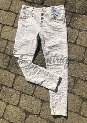 "Karostar Karostar - Jeans ""K658"" - Creme :"