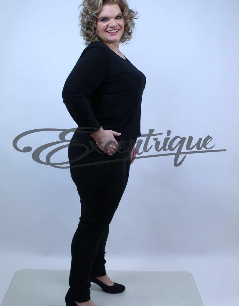 "Riva Fashion RivaFashion - Pantalon ""Luna"" - Zwart :"