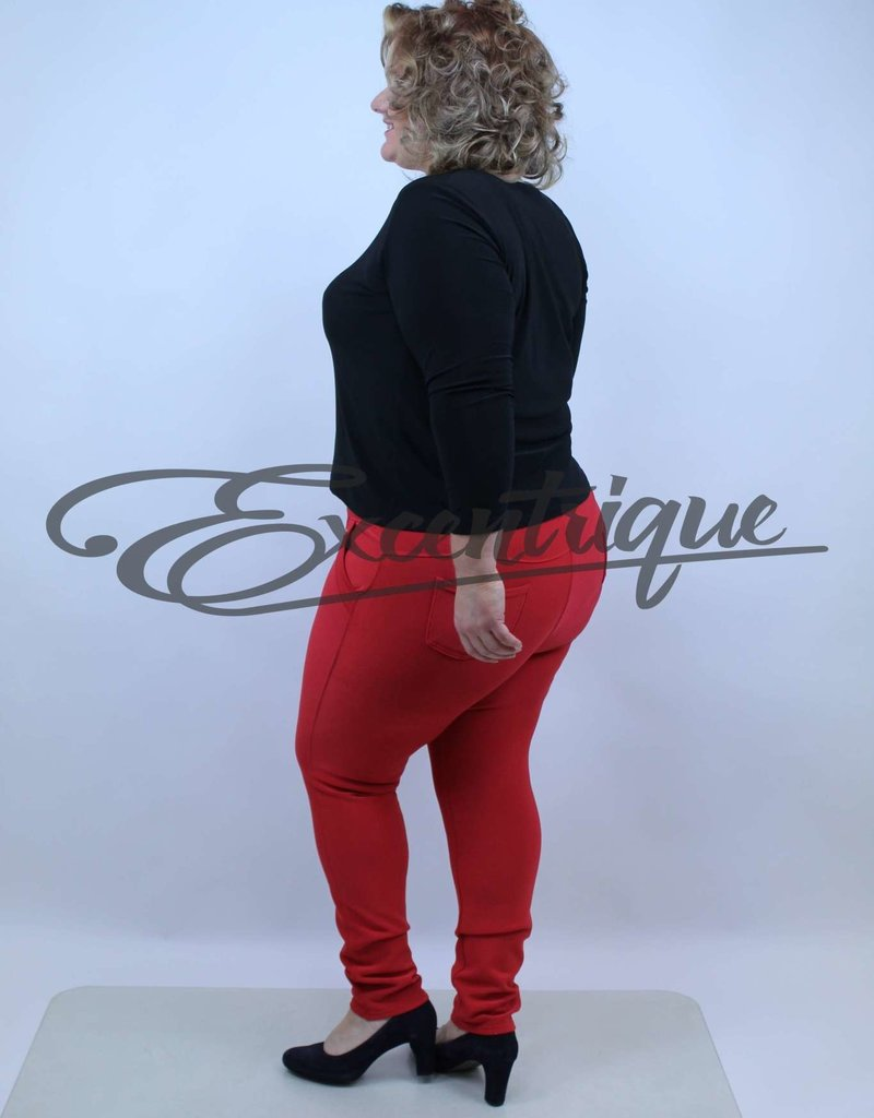 "Riva Fashion RivaFashion - Pantalon ""Luna"" - Rood :"