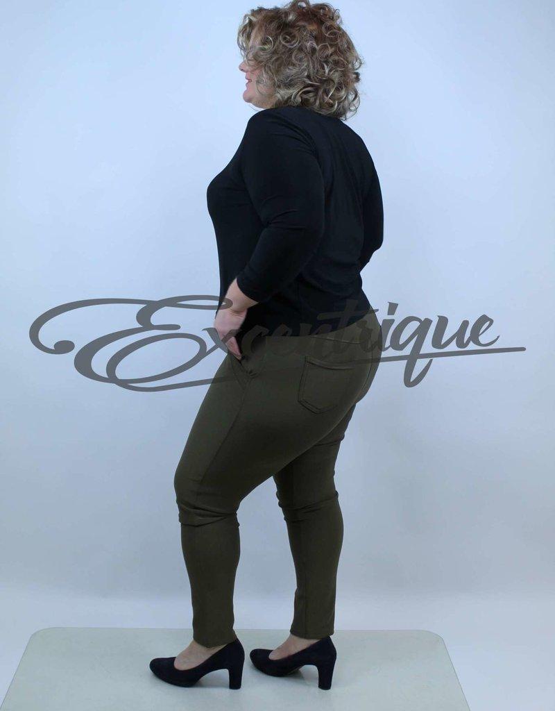 "Riva Fashion RivaFashion - Pantalon ""Luna"" - Kaki :"
