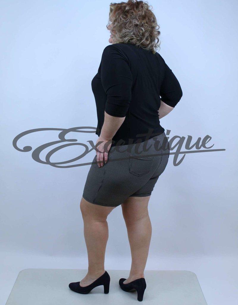 "Senma Fashion SenmaFashion - Short ""Amy"" - Beige Zwart PiedDePoule :"