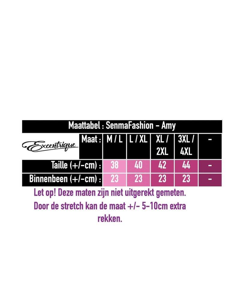 """Senma Fashion SenmaFashion - Short """"Amy"""" - Oker Zwart PiedDePoule :"""