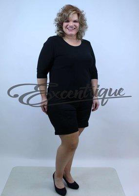 "ByExcentrique - Shorts / Pantalon Kort ""GS317"" - Uni Zwart :"