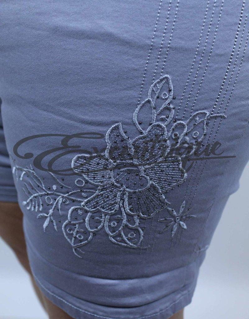 """ByExcentrique - Shorts / Pantalon Kort """"GS317"""" - Uni Grijs :"""