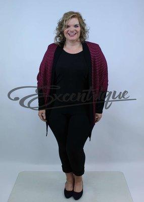 "NewJersey - Vest ""Mila"" - Pink Zwart Streep :"