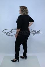 """Miss Queen MissQueen - Jeans """"Helena"""" - Zwart :"""