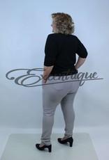 "Riva Fashion RivaFashion - Pantalon ""Luna"" - Uni LichtGrijs :"