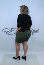 "Senma Fashion SenmaFashion - Short ""Jana"" - Groen LichtGroen Wit Stip Motief :"