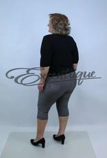 "Senma Fashion SenmaFashion - 3/4 Pantalon ""Katja"" - Creme Zwart Bruin :"